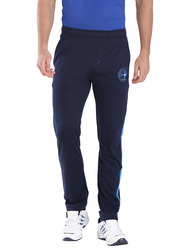 Jockey Men's Sports Track Pants Small, Navy/Neon Blue