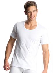 Jockey Elance Short Sleeve Round Neck T-Shirt for Men, 8826-0110, Extra Large, White