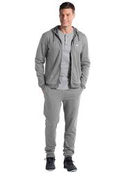 Jockey Men's USA Originals Long Sleeve Hoodie, US87-0105, Small, Grey Melange