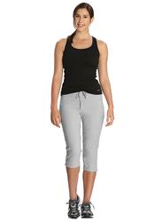 Jockey Ladies 24X7 Capri Pants for Women, Large, Light Grey Melange