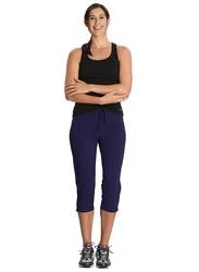 Jockey Ladies 24X7 Capri Pants for Women, Small, Imperial Blue