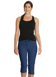 Jockey Ladies 24X7 Capri Pants for Women, Medium, Vintage Denim Melange