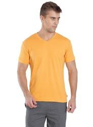 Jockey Men's 24X7 Short Sleeve V-Neck T-Shirt, 2726-0105, Medium, Burnt Gold