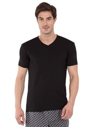 Jockey Men's 24X7 Short Sleeve V-Neck T-Shirt, 2726-0105, Medium, Black