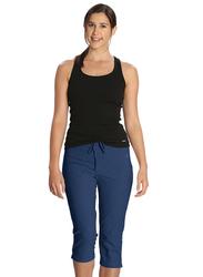 Jockey Ladies 24X7 Capri Pants for Women, Extra Large, Vintage Denim Melange