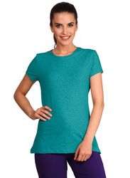 Jockey Ladies 24X7 Short Sleeve T-Shirt for Women, Medium, Teal Melange