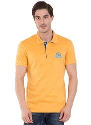 Jockey Men's 24X7 Short Sleeve Sport Polo Shirt, 3911-0103, Small, Burnt Gold