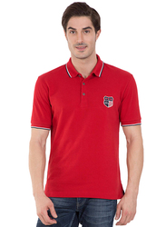 Jockey Men's USA Originals Polo T-Shirt, US85-0103, Extra Large, Wordly Red
