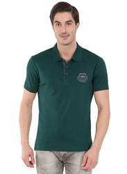Jockey Men's 24X7 Short Sleeve Sport Polo Shirt, 3911-0103, Small, Eden Green