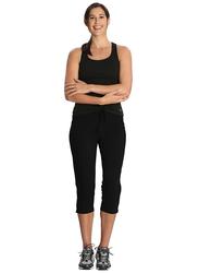 Jockey Ladies 24X7 Capri Pants for Women, Small, Black