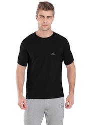 Jockey Sport Performance T-Shirt for Men, SP24-0105, Large, Black