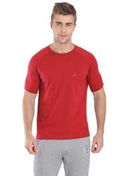 Jockey Sport Performance T-Shirt for Men, SP24-0105, Large, Team Red