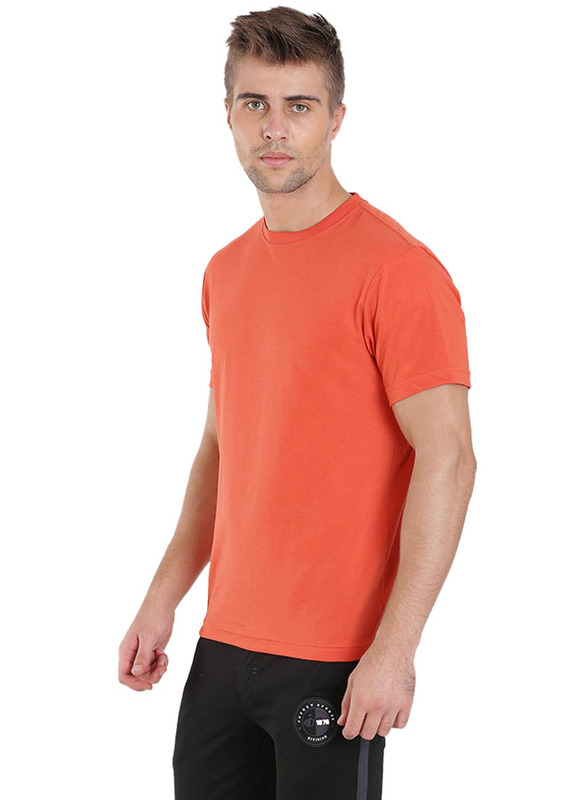Jockey Men's 24X7 Sport Short Sleeve T-Shirt, 2714-0105, Double Extra Large, Orange Rust