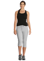 Jockey Ladies 24X7 Capri Pants for Women, Extra Large, Light Grey Melange