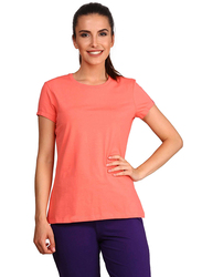 Jockey Ladies 24X7 Short Sleeve T-Shirt for Women, Medium, Blush Pink