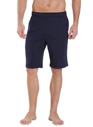 Jockey Men's 24X7 Double Stripe Detail Knit Sport Shorts Large, Navy Blue/Seaport Teal