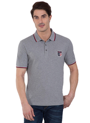 Jockey Men's USA Originals Polo T-Shirt, US85-0103, Extra Large, Grey Melange