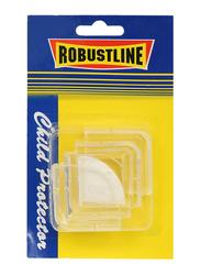 Robustline Self Adhesive Furniture Corner Edge Guard Protector, 4 Pieces, Clear