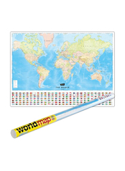 World Map, Rolled, By: Explorer Publishing