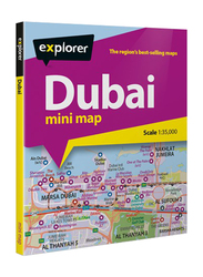 Dubai Mini Map, Paperback Folded Map, By: Explorer Publishing