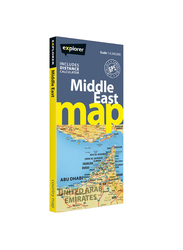Middle East Map, Paperback Folded Map, By: Explorer Publishing