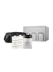 Bvlgari Extreme for Man 4 Piece Gift Set 100ml EDT, Shampoo and Shower Gel 75ml, After Shave Balm 75ml,Pouch Exclusive Set