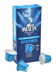 Meseta Decaffeinato Espresso Italiano Coffee, 10 Capsules, 50g