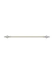 Lushh 3-Meter Adjustable Anti Brass Roman Pipe Single Bar Curtain Rod, 300AB, Light Gold