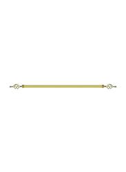 Lushh 3-Meter Adjustable Roman Pipe Single Bar Curtain Rod, 300G, Gold
