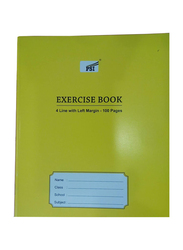 PSI 4 Lines Exercise Notebook, 100 Pages, Yellow