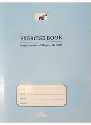 PSI Single Line Exercise Notebook, 200 Pages, Sky Blue
