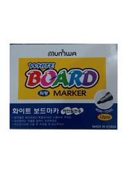 Munhwa 12-Piece White Board Marker, Black