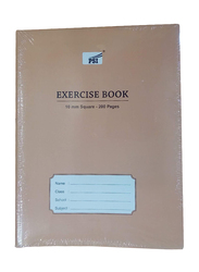 PSI 10mm Square Exercise Notebook, 200 Pages, Beige