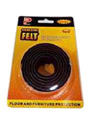 Perfect Floor Protection Adhesive Felt Rolls, Black