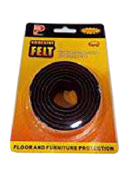 Perfect Floor Protection Adhesive Felt Rolls, Black