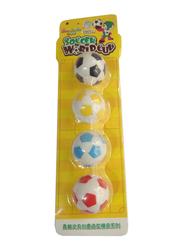 Soododo 4 Piece Football Eraser, Multicolor
