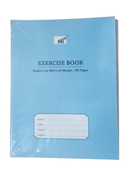 PSI Single Line Exercise Notebook, 160 Pages, Blue