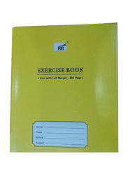 PSI 4 Lines Exercise Notebook, 200 Pages, Yellow