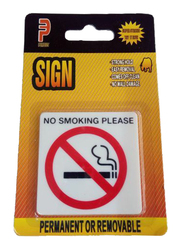 Perfect No Smoking Please Acrylic Sign, Small, Yellow/White