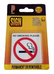 Perfect No Smoking Please Acrylic Sign, Small, Yellow/White