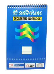 Sinarline Shorthand Notebook Pad, 70 Sheets, 5 x 8 inch, 12 Pieces, Blue