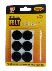 Perfect Floor Protection Adhesive Felt Tab, 6 Pieces, Black