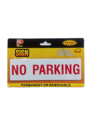 Perfect No Parking Acrylic Sign, Large, Yellow/White