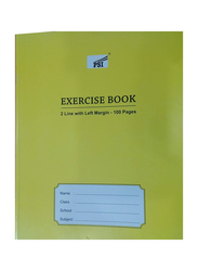 PSI 2 Line Exercise Notebook, 200 Pages, Yellow