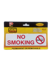 Perfect No Smoking Acrylic Sign, Large, Yellow/White