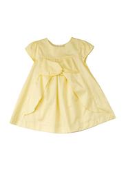 Poney Short Sleeve Dress for Girls, 3-4 Years, Yellow