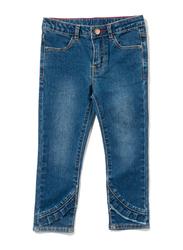 Poney Denim Jeans for Girls, 3-4 Years, Blue
