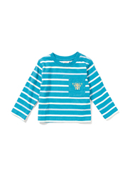 Poney Long Sleeve Tee for Boys, 12-18 Months, Blue
