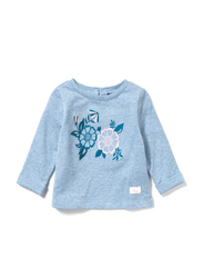 Poney Long Sleeve Sweatshirt for Girls, 2-3 Years, Blue