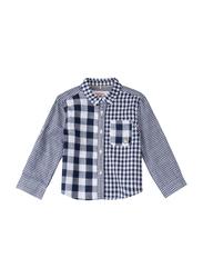 Poney Long Sleeve Shirt for Boys, 18-24 Months, Blue